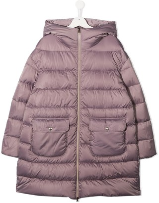 Herno TEEN two-pocket padded coat
