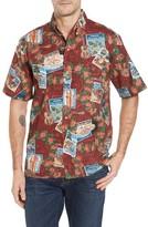 Reyn Spooner Men's Hawaiian Christmas 2017 Sport Shirt