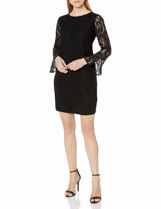 Anne Klein Women's LACE Sheath Dress with Bell Sleeves