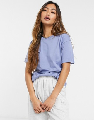 Weekday Alanis round neck t-shirt in blue