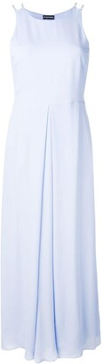 Emporio Armani Pleated Detail Long Dress