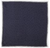 John Lewis Dot Print Silk Pocket Square, Navy/white
