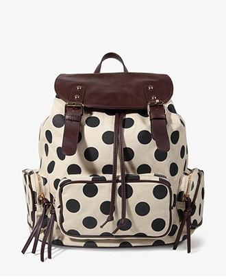 Forever 21 Polka Dot Backpack