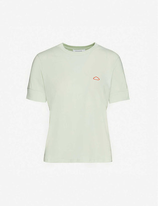 Frame Easy 70s cloud-embroidered organic cotton-jersey T-shirt
