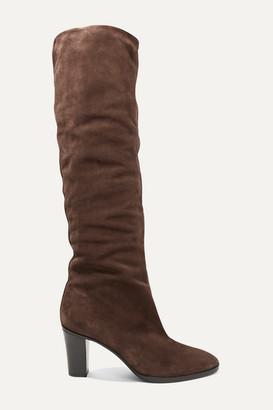 Vince Casper Suede Knee Boots - Brown