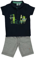Bob Der Bar Two-Piece Graphic Polo and Shorts Set
