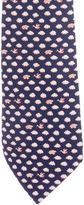 Hermes Cloud Print Silk Tie