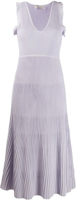 MICHAEL Michael Kors Flared Ribbed Midi Dress