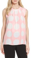 Vince Camuto Women's Pleat Polka Dot Blouse