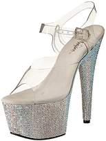 Pleaser USA Women's Bejeweled-708DM/C/SMCRS Platform Sandal