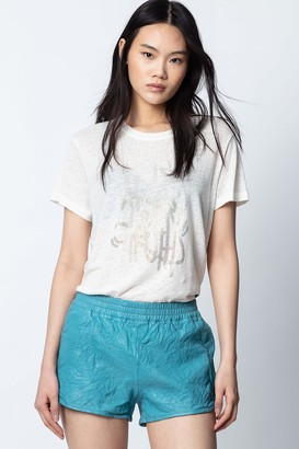 Zadig & Voltaire Salto Leather Shorts