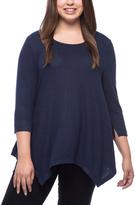 Bobeau Midnight Navy Langley Sweater - Plus