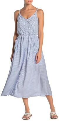 Maaji Crystal Clear Striped Midi Cover-Up Dress