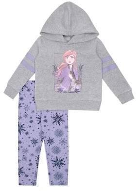 Nannette Little Girl's Frozen 2 Anna 2-Piece Hoodie & Leggings Set
