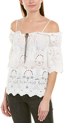 The Kooples English Embroidery Top