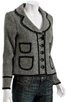 black metallic stripe 'Audrie' cropped jacket