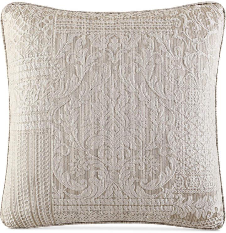"J Queen New York Wilmington Alabaster 20"" Square Decorative Pillow"