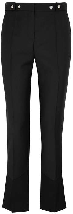 Givenchy Black Mohair And Wool-blend Trousers
