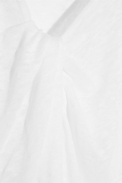 By Malene Birger Analisa Knotted Slub Linen-Jersey T-Shirt