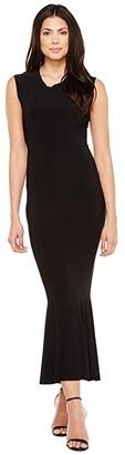 KAMALIKULTURE by Norma Kamali Sleeveless Midcalf Fishtail Dress (Black) Women's Dress