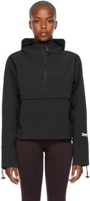 Reebok By Victoria Beckham Black Canvas Anorak Jacket