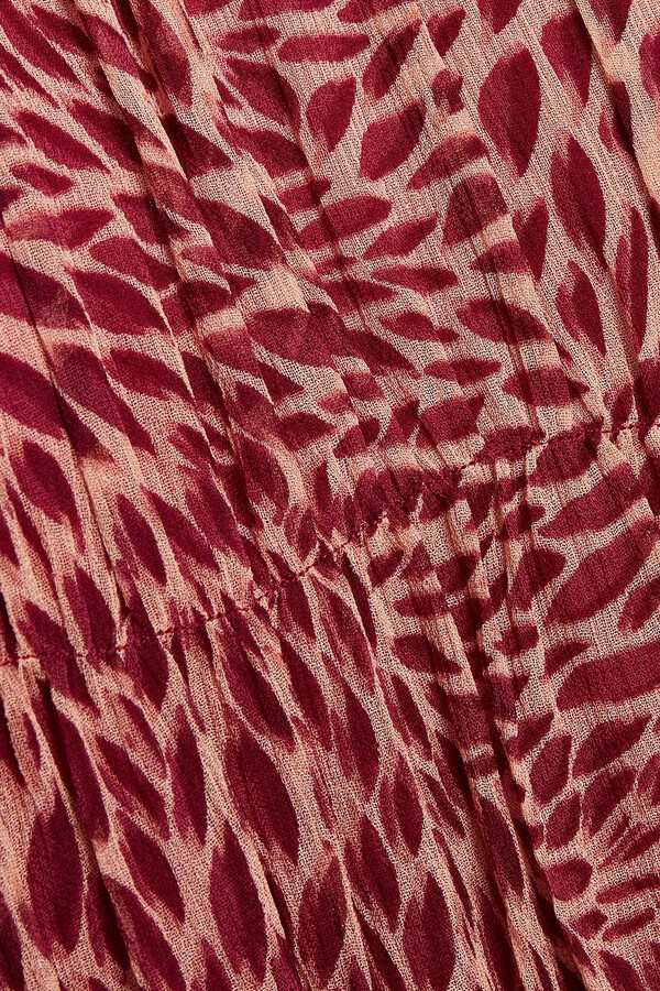 Thumbnail for your product : BA&SH Grace Pleated Printed Crepon Mini Dress