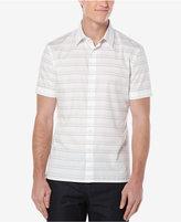 Perry Ellis Men's Horizontal-Stripe Short-Sleeve Shirt