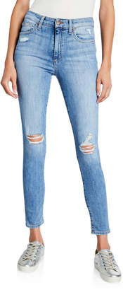 Joe's Jeans Destroyed High-Rise Skinny Ankle Jeans