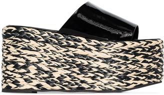 Simon Miller Blackout 105mm espadrille platform sandals