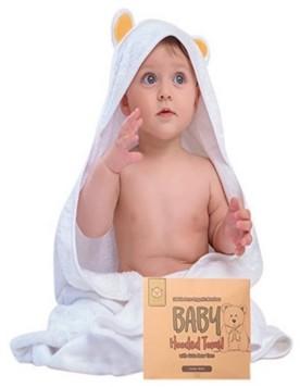 KeaBabies Baby Hooded Bear Towel