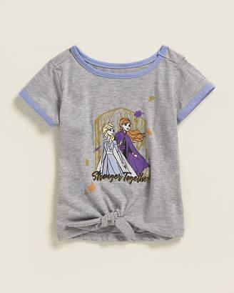 Frozen (Toddler Girls) Stronger Together Tie-Front Short Sleeve Tee