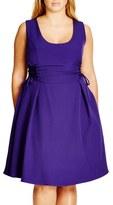 City Chic Corset Side Fit & Flare Dress (Plus Size)