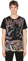 Balmain Tiger Printed Cotton Jersey T-Shirt