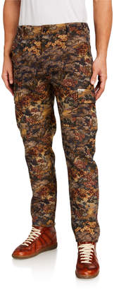 Ovadia Men's Tapestry-Pattern Cargo Pants