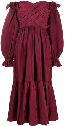 Self-Portrait Off-Shoulder Ruffled Dress