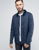Jack Wills Quilted Jacket In Navy