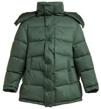 Balenciaga New Swing Puffer Jacket - Womens - Dark Green