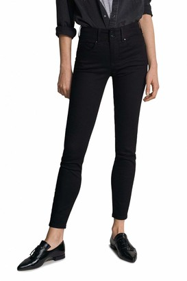 Salsa Push in Secret Skinny True Black Jeans