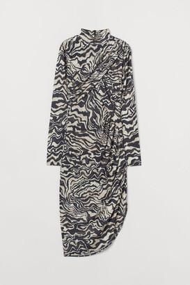 H&M Draped Dress - Brown
