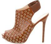 Alexander McQueen Leather Grommet Sandals
