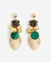 Ann Taylor Pleated Charm Statement Earrings