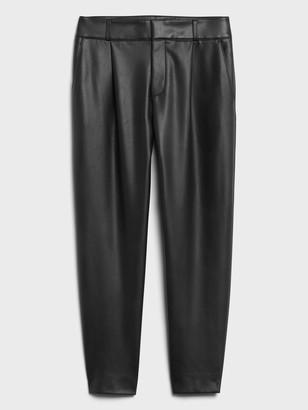 Banana Republic High-Rise Tapered Vegan Leather Pant