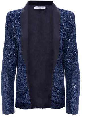 Hasanova Midnight Blue Sparkles Satin Blazer
