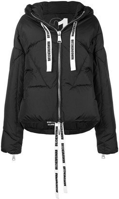 KHRISJOY Logo Tape Puffer Jacket