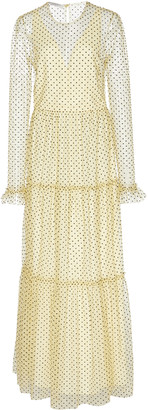 Philosophy di Lorenzo Serafini Polka Dot-Patterned Chiffon Midi Dress