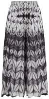 Issey Miyake Itajime Shibori-dyed Wide-leg Trousers - Womens - Black White