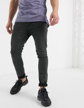 Burton Menswear skinny jeans in khaki wash