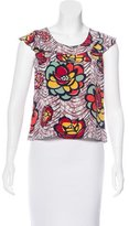Cacharel Floral Print Short Sleeve Top