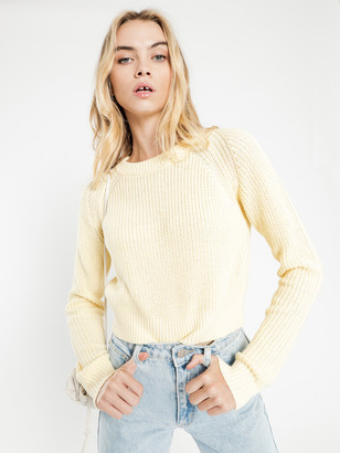 Nude Lucy Brooklyn Crop Knit in Butter Yellow