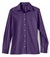 Classic Women's Regular Long Sleeve Stretch Broadcloth Shirt-Gray Heather